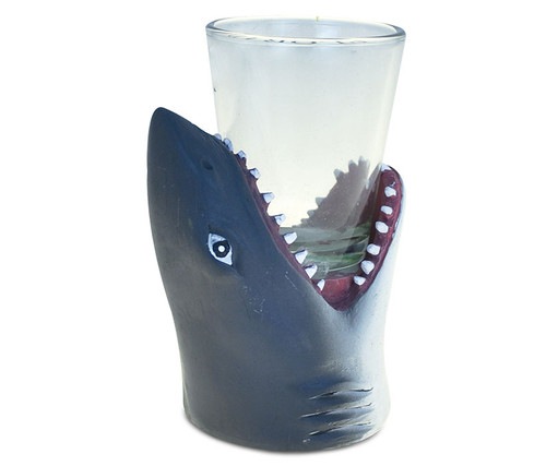 Cool Animal Head Shot Glass Shark