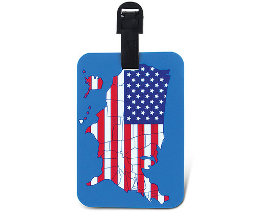 Luggage Tags US Map Flag