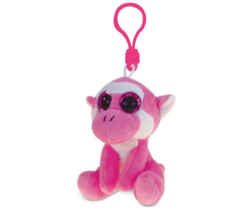 Big Eye Keychain Pink Mokey