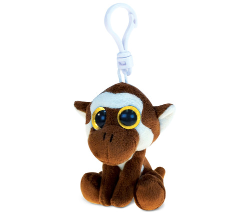 Big Eye Keychain Brown Mokey