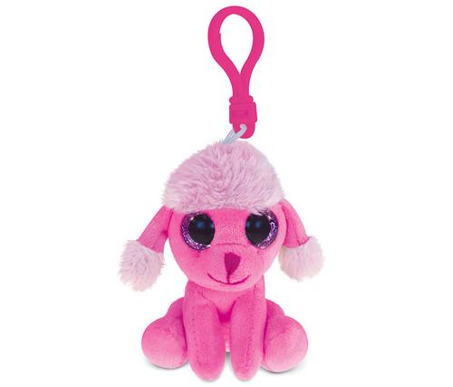 Big Eye Keychain Pink Poodle Dog