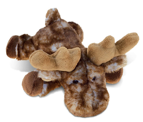 Super Soft Plush Brown Lying Moose