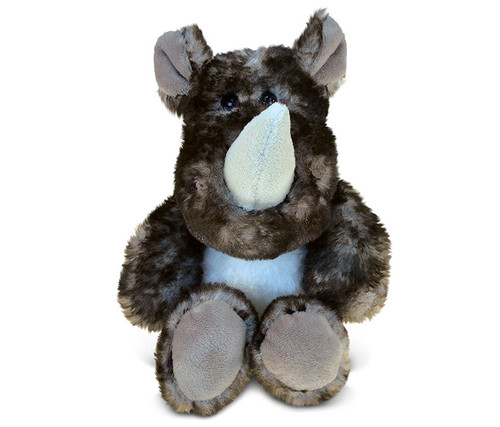 Super Soft Plush Sitting Brown Rhino