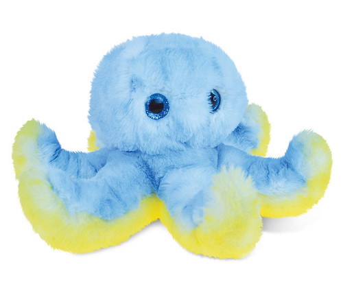 Super Soft Plush Blue Octopus
