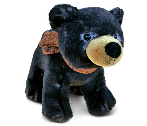 Super Soft Plush Standing Black Bear