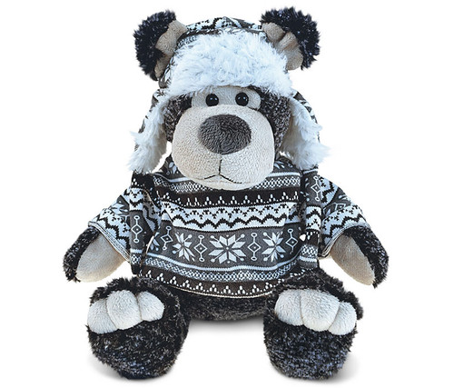 Super Soft Plush With Clothes  Black Bear
