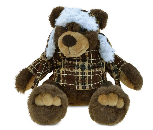 Super Soft Plush With Clothes  Brown Bear