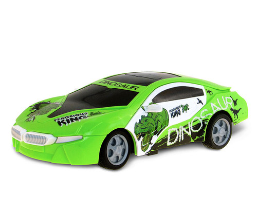Vehicle Playset Battery Operated Lime Green Dinosaur Race Car