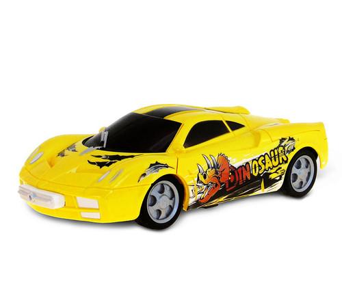 Vehicle Playset Battery Operated Yellow Dinosaur Race Car