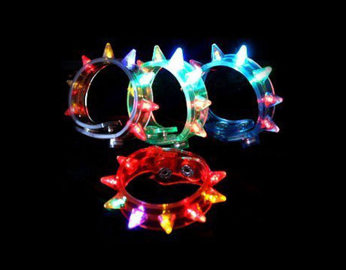 Assorted LED Spike Bracelets 12 pcs Novelty Light Up Toy