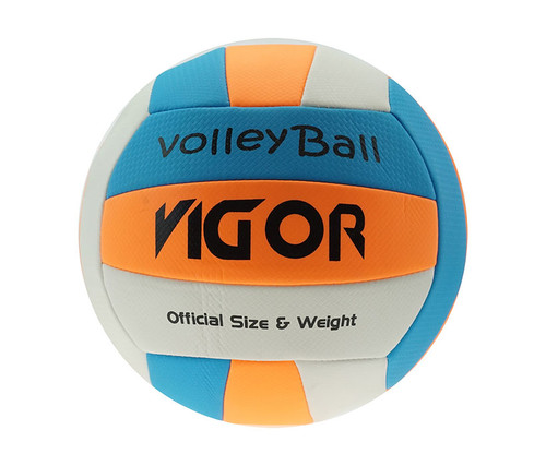 White-Blue-Orange Official Size & Weight Beach Volleyball Size 5 Volleyballs