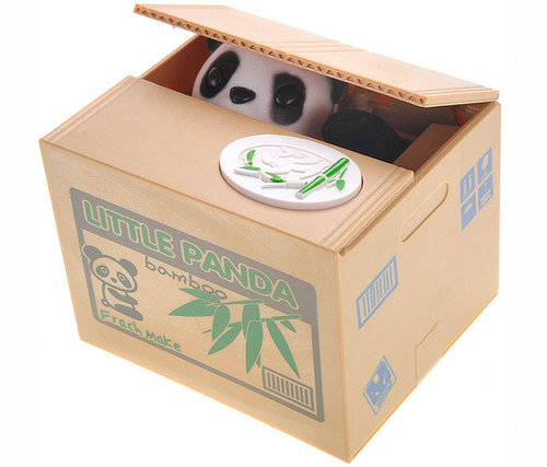 Stealing Coin Panda Money Bank  Toy Banks