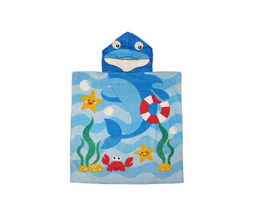 Kids Dolphin Hooded Bath Towel Bath Towels