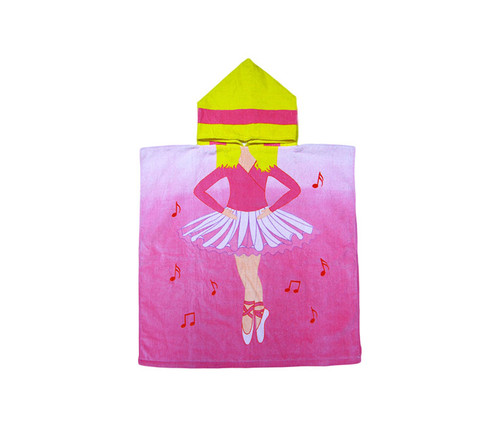 Kids Ballerina Hooded Bath Towel Bath Towels