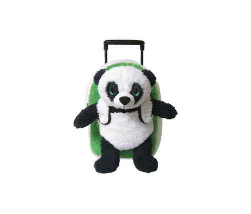 Children's Panda Plush Roller Backpack Kid's Luggage