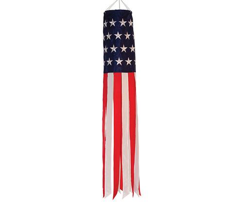 Patriotic Stars & Stripes Embroidered Windsock Garden Windsock