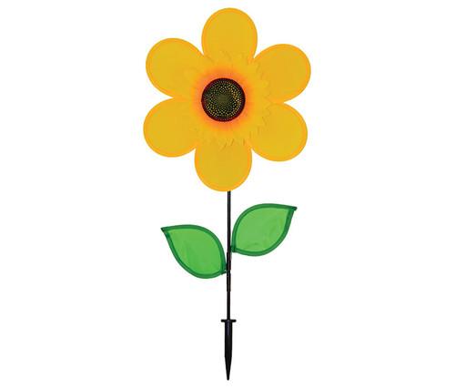 Yellow Sunflower Wind Spinner Garden Spinner