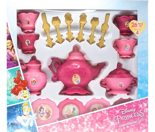 Disney Princess Dinnerware 26 Piece Set Pretend Play