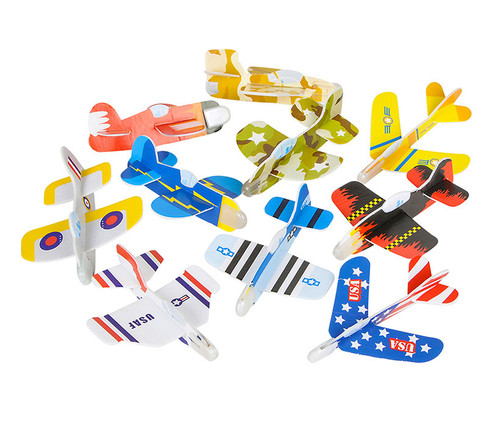 Foam Glider Assortment Vehicle Pack of 72 Toy Sets