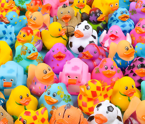 Rubber Ducks assortment 2 inches 50 Pieces Toys & Games