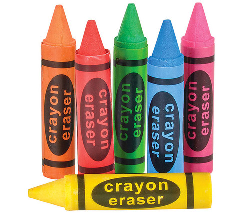 Colorful 36 Assorted Colors Crayon Erasers Office