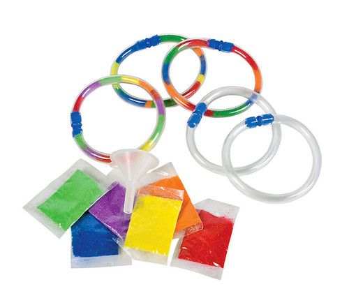 Colorful Sand Art Bracelets 12 Pieces With 6 Assorted Bags Toys and games