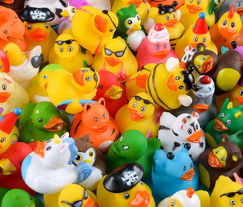 Rubber Duck 2 Inches Assortment of 100 Toys and games