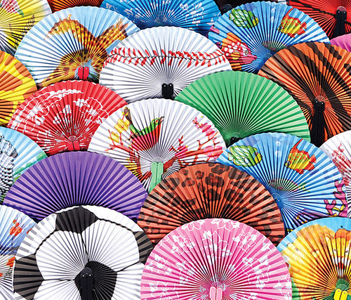 10-inch Assorted Folding Fan 48 Pack Folding Fan