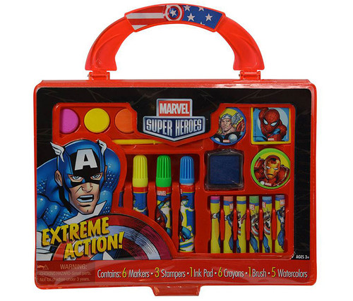 Marvel Super Heroes Take-Along Art Case Art Supplies