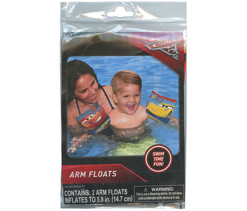 Disney Cars 3 Inflatable Arm Floats Pack of 2  Pool Inflatable