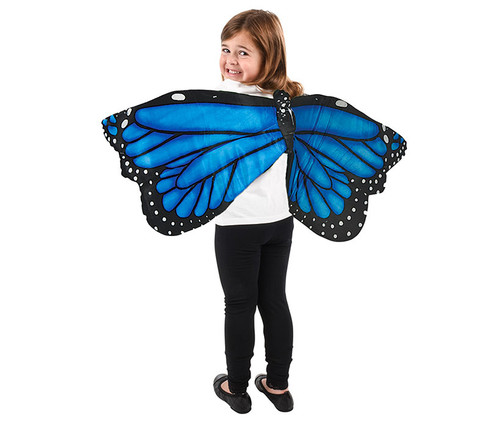 Blue Costume Plush Butterfly Wings for Kids Costume
