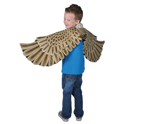 Brown Plush Eagle Wings  Kid's Costume