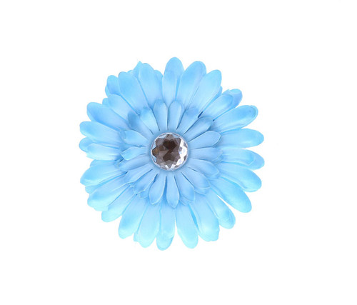 Blue Rhinestone Daisy Flower Hairclip Hair Accessory