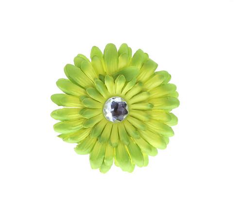 Green Ombre Rhinestone Daisy Flower Hairclip Hair Accessory