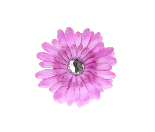 Lavender Rhinestone Daisy Flower Hairclip Hair Accessory