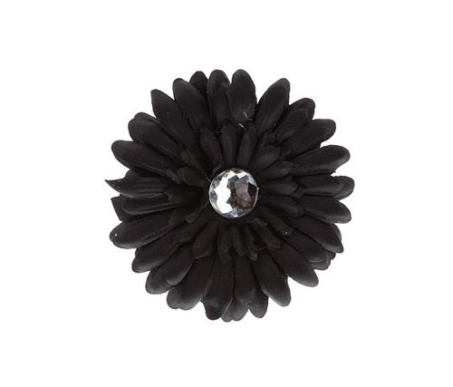 Black Rhinestone Daisy Flower Hairclip Hair Accessory