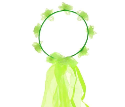 Green Flower Crown Headwrap Costume Accessory