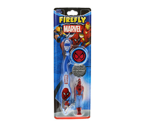 Marvel Heroes Spider-Man Toothbrush 3pc Travel Set Children's Accessories