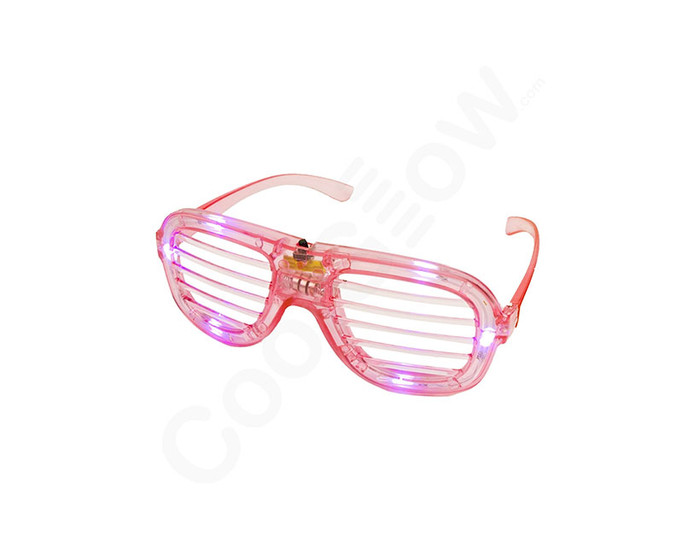 Pink LED Slotted Glasses Novelty Light Up Toy