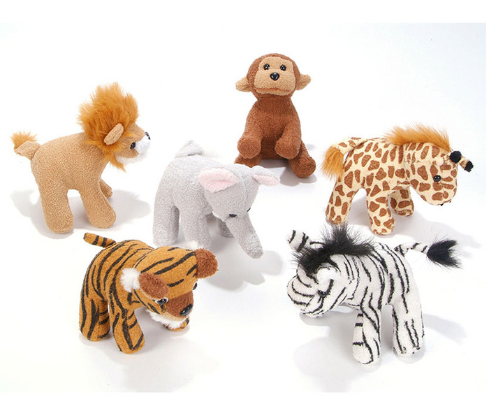 5-Inch Zoo Animal Plush 12 Pack Animal Plush