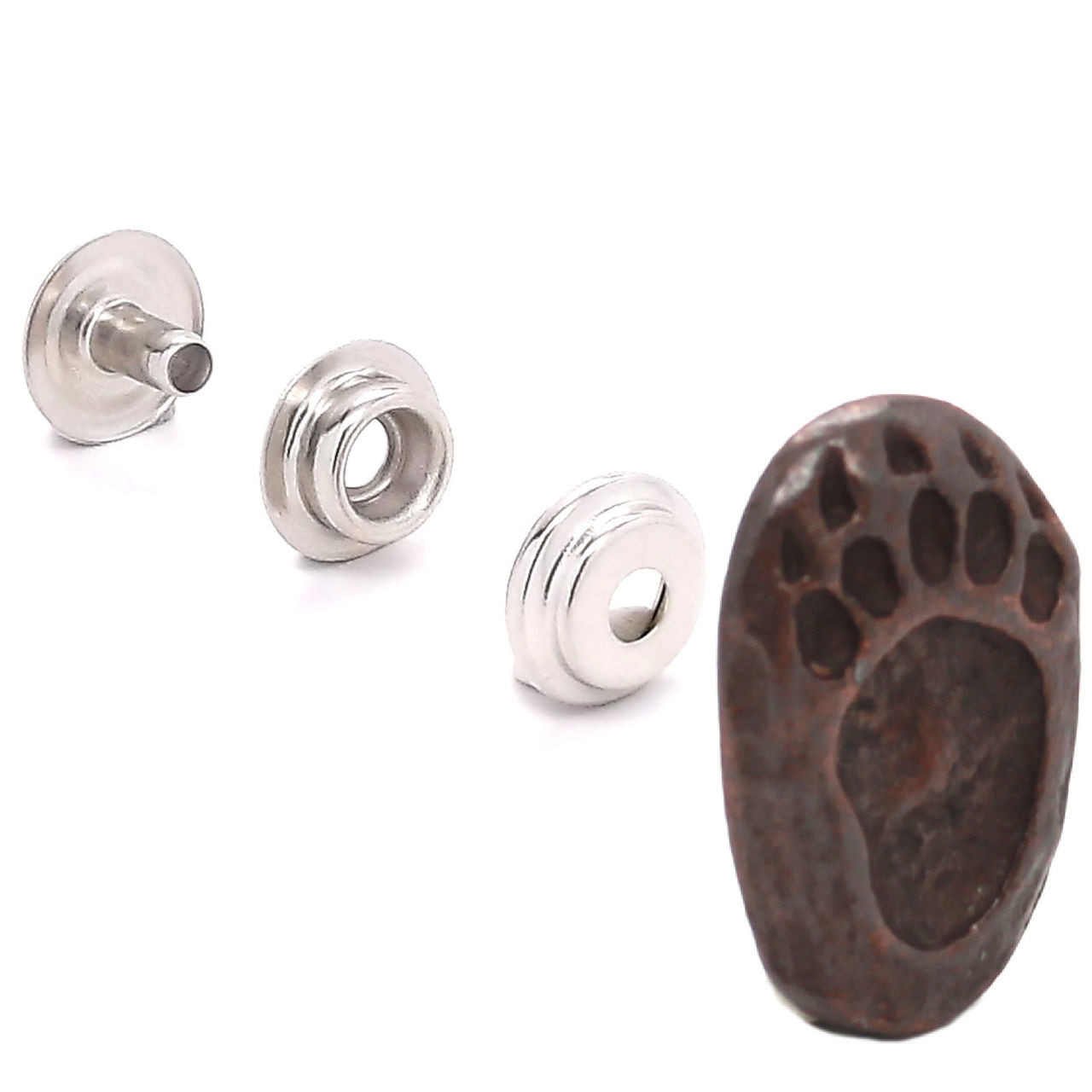Bear Track Right Foot Rubbed Bronze Set