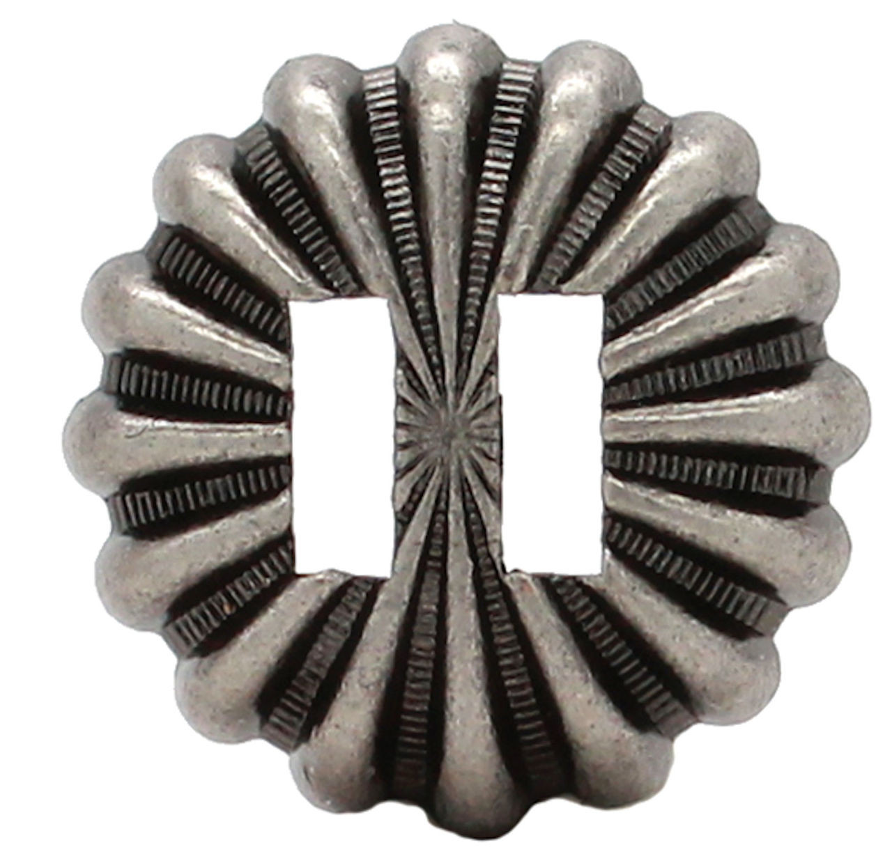 "Parachute Slotted Concho Antique Nickel 1-1/2"" 7657-21S"