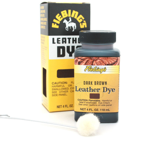 Dark Brown Fiebing's Leather Dye 4 oz