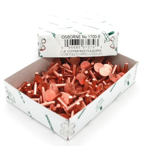 Copper Rivets 1 lb box (Appx. 115 Count) Size 9