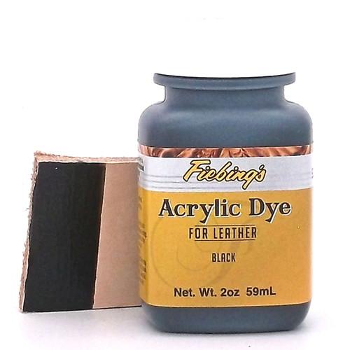 Black Fiebing's Acrylic Leather Dye Paint 2 oz.