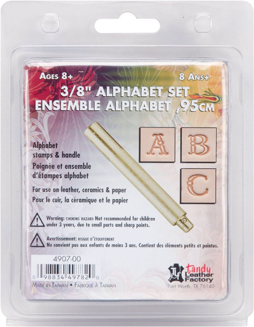 "Craftool Fancy Alphabet Stamp Set 3/8""Cover"