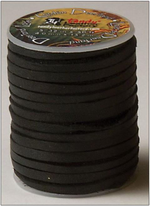 """5/32"""" X 50' (4.0 mm x 15.2 M)  Black  Deertan Lace # 5071-01"""
