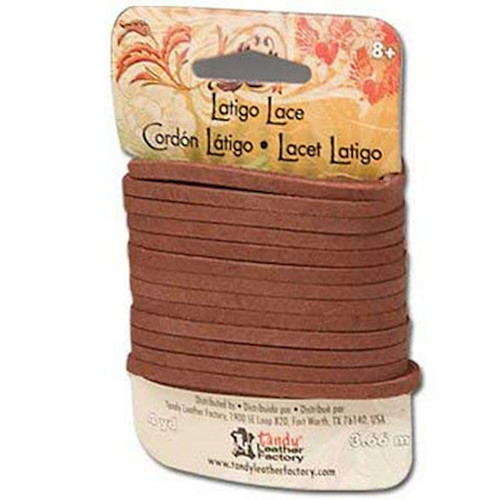 "Latigo Lace Medium Brown 1/8"" X 4 Yd 5112-03"