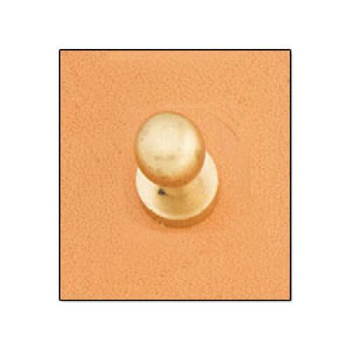 Button Stud 7mm Screwback Brass