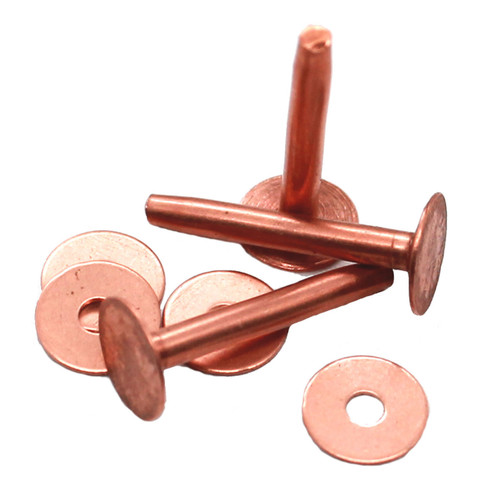 "Osborne Size 14, 3/4"" Long Solid Copper Rivets"